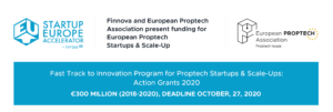 Fast Track to Innovation Program for Proptech Startups & Scale-Ups: Action Grants 2020