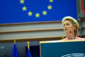 Ursula von der Leyen during the State of the Union address.