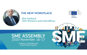 Dirk Paelinck at the European Commission's annual SME Assembly: 'The New Workplace' masterclass.